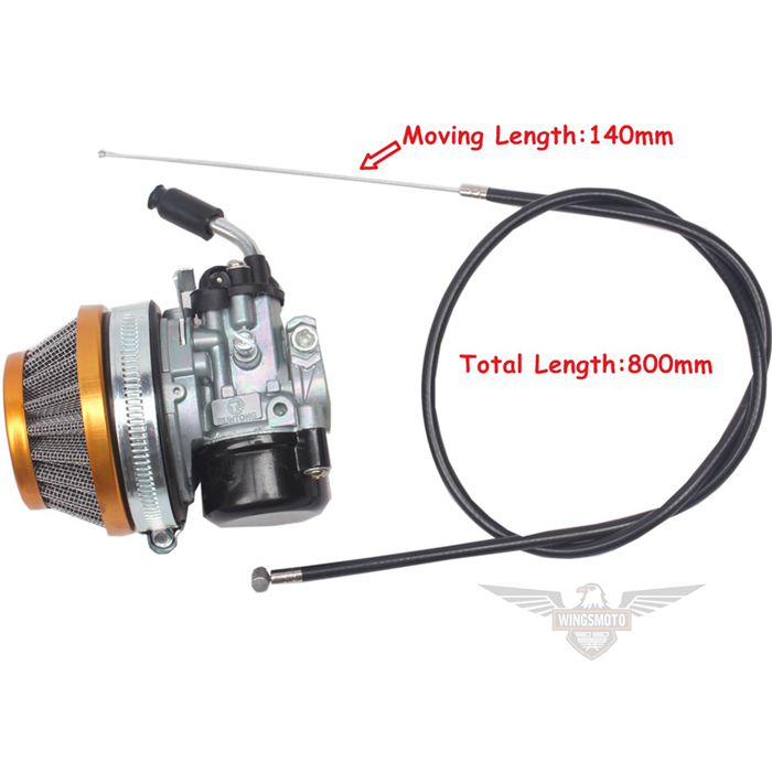 Throttle Cable + Carburetor + Air Filter 39CC Water Cooled Engine MT A4 Blata STYLE C13 Mini Moto Pocket Bike
