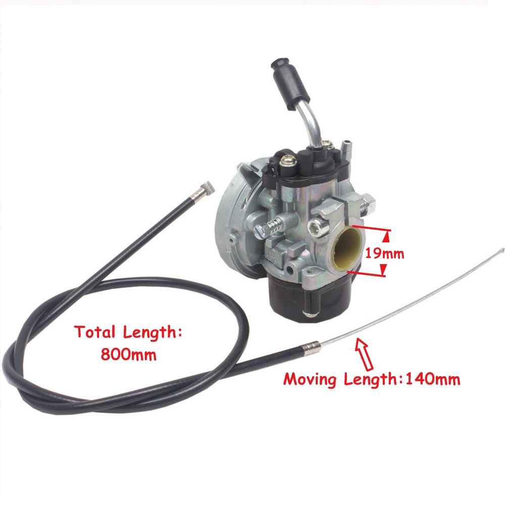 Throttle Cable + Carburetor 39CC Water Cooled Engine MT A4 Blata STYLE C8 Mini Moto Pocket Bike