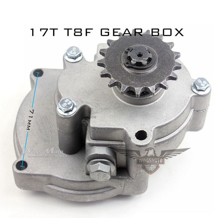 17T T8F Gear Box Clutch Bell Housing 43cc 49cc Petrol Scooter Pocket Rocket ATV