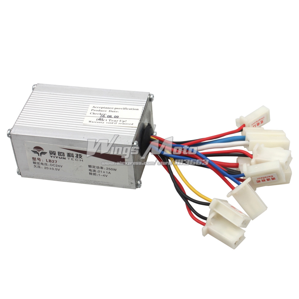 24v 250w Motor Speed Controller Electrical Scooter E Bike Bicycle Tricycle Brush Motor Control Box