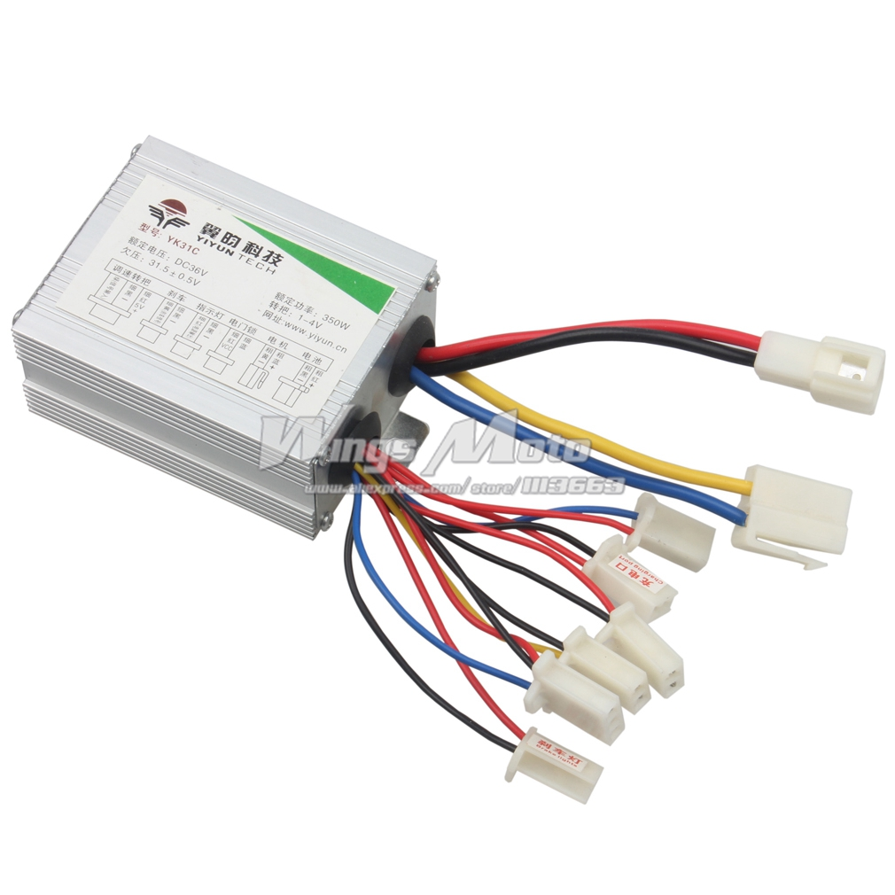 36v 350w Motor Speed Controller Electrical Scooter E Bike Bicycle Tricycle Brush Motor Control Box