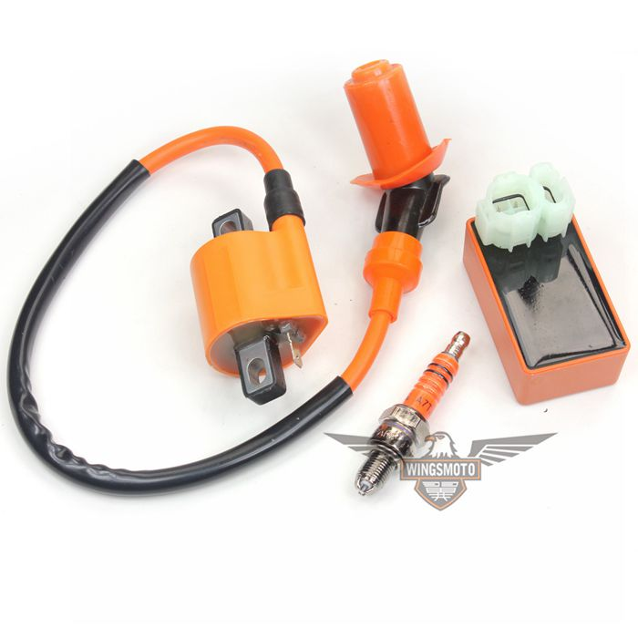 Racing Ignition Coil +CDI+ 3-elctrode Spark Plug GY6 50 150cc Scooter