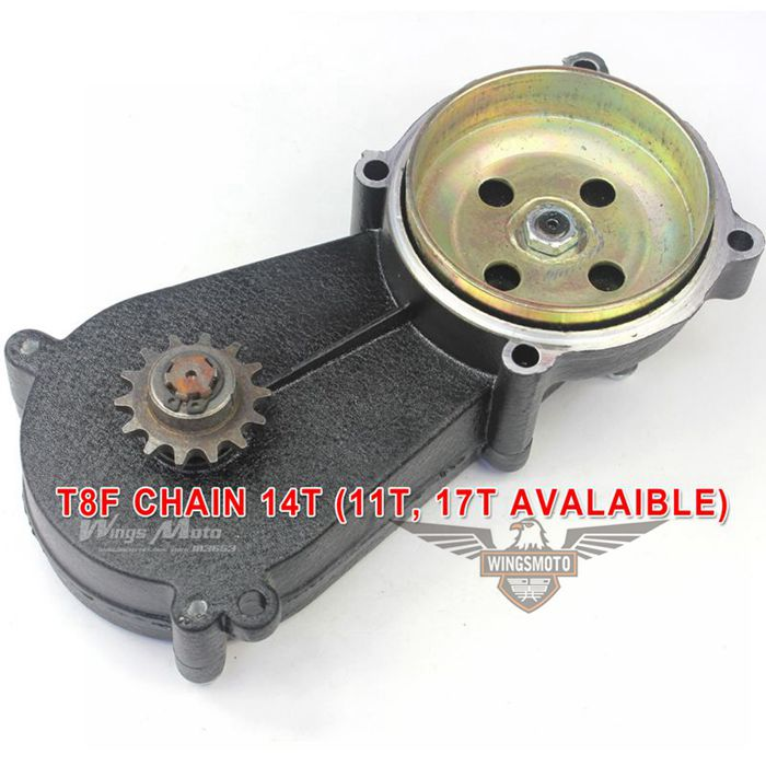 Gear Box 47cc 49cc Pocket Bike ATV T8F Chain 14T
