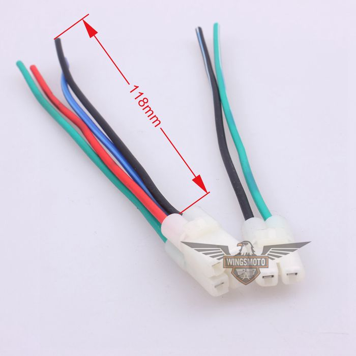 CONNECTOR WITH WIRE FOR GY6 50 60 80 125 150CC CF250 MOPED SCOOTER ATV GO-KART MOTORCYCLE